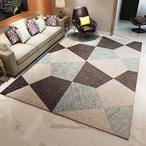ROSE GUO Tapis Nylon Motifs Géométriques Salon Simple Moderne Ménage Tapis De Chevet,4-120 * 160cm
