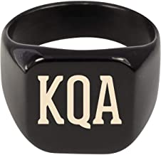 Molandra Products KQA - Adult Initials Stainless Steel Ring