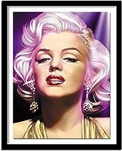 ZXXGA 5D DIY Pintura de Diamante American Female Star Bordado Completo Pintura Utilizada para la decoración de la Pared del hogar Pintura Punto de Cruz Diamante Cuadrado 40x30cm