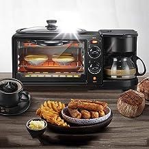 Inicio multifunción Tres-en-uno Desayuno Horno Cafetera Tostadora Comerciales Mini Horno eléctrico Tortilla