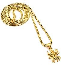 Chain Pendant sherawali maa Kali Durga maa One Two Gram Gold Plated Locket Jewelry Set 7614
