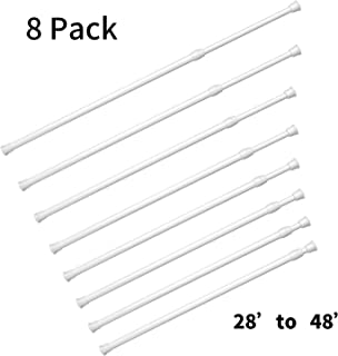 Si Tong 8 Pack Tension Rods,Spring Curtain Rods Window Rods for Kitchen Window Bathroom (28
