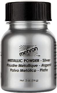Mehron Makeup Metallic Powder (.5 ounce) (Silver)