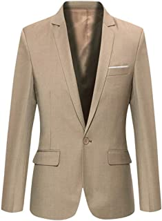 Beninos Men's Slim Fit Casual One Button Blazer Jacket Sport Coat
