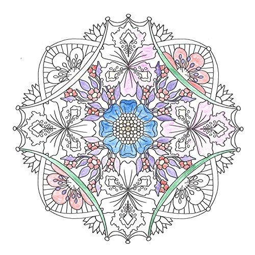flowermandalas心を整える、花々のマンダラぬりえ