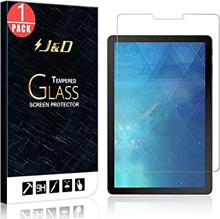 J&D Compatible for 1-Pack Galaxy Tab S4 10.5 Glass Screen Protector, [Tempered Glass] [Not Full Coverage] HD Clear Ballistic Glass Screen Protector for Samsung Galaxy Tab S4 10.5 inch Screen Protector