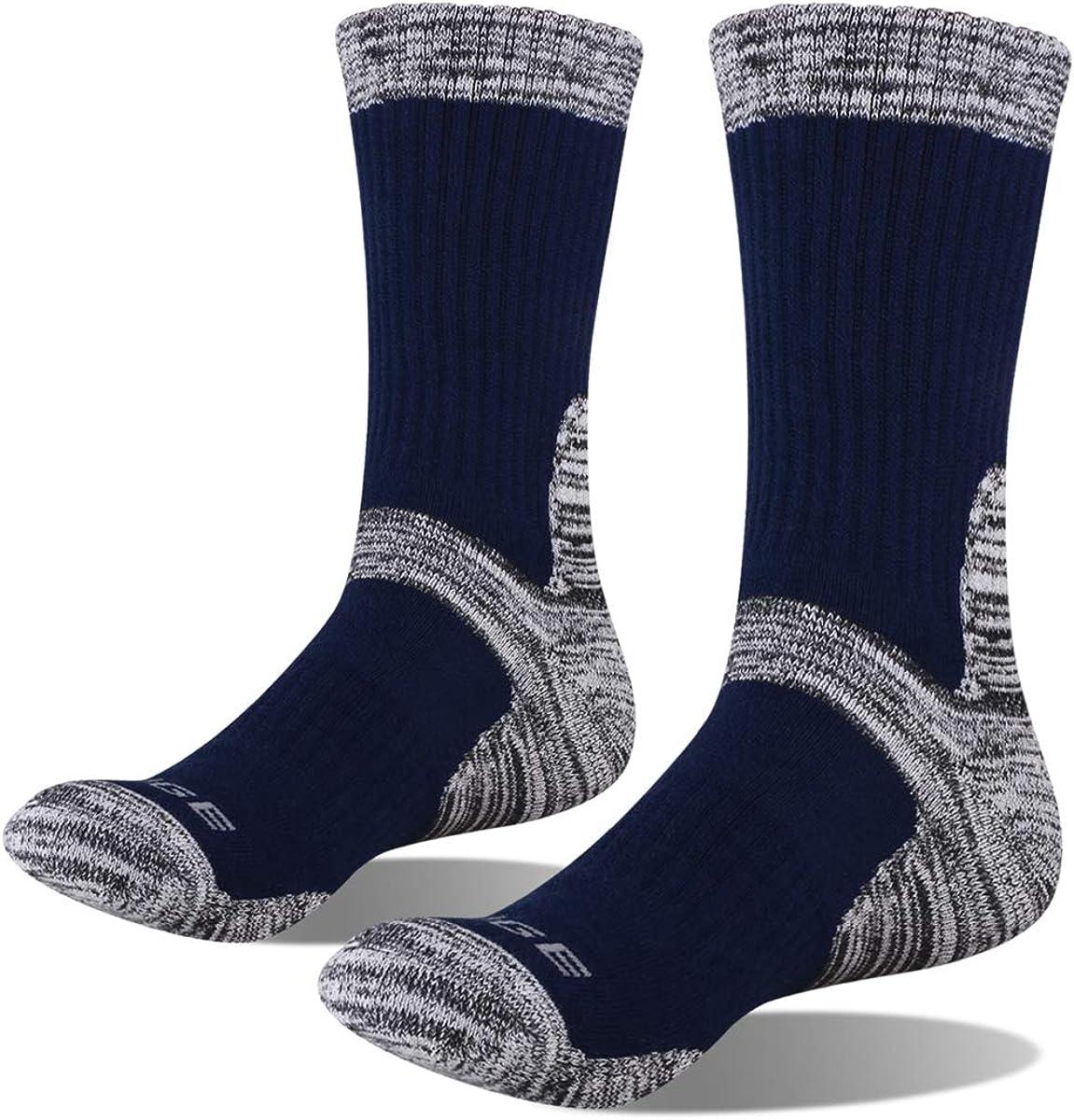 YUEDGE Herren Atmungsaktiv Baumwolle Sportsocken Wandersocken Arbeitssocken Dicke Warme Thermo Winter Socken 5 Paar f/ür M/änner 38-48