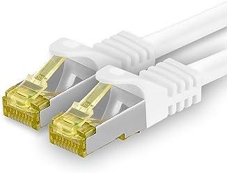 Cable de conexi/ón coaxial 1aTTack 7507188 BK 250 2,5m color blanco