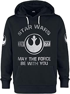 Star Wars 1977 - May The Force Be with You Hombre Sudadera con Capucha Gris/Melé