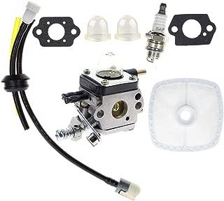 Carbhub C1U-K54A Carburetor for 2-Cycle Mantis 7222 7222E 7222M 7225 7230 7234 7240 7920 7924 Tiller/Cultivator Carb with Air Filter Repower Kit