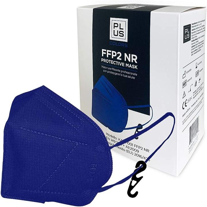 Mascherine ffp2 certificate ce con gancio incluso, ce 2834, confezione da 20 pezzi  plus B08WRXVJ72