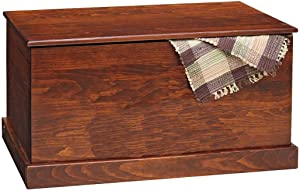 Amish Pine Hope Chest American Made Storage Furniture by Heritage Pine Furniture Collection (Brown (Michael's Cherry))