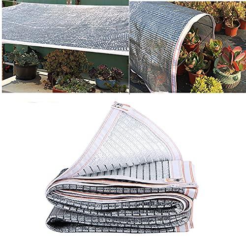 Xooz Sun Shade Paño, Sun Sail Shades Planta Malla Sombrero Sombrero Sombra Sombrero 75% Sol Reflejo Sombreado Tartas Reflectante Aluminio para Plantas Flores Cubierta de Coche Invernadero,4x5 m