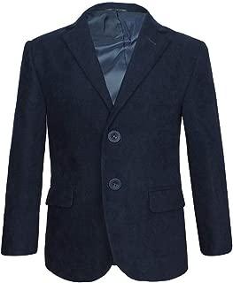SIRRI Casual Formale Blazer Giacca Gabardine in Blu Navy Giacca da Ragazzo Blu Navy