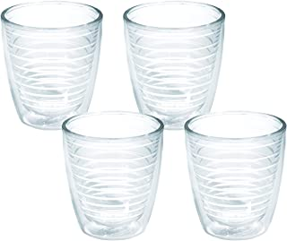 Tervis 1005762 Clear & Colorful, Clear Tumbler 4 Pack 12oz, Clear