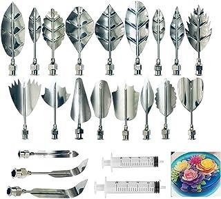 کیت شروع کننده ژلاتین آرت - ابزار تزئین کیک گل ژله ای سه بعدی مجموعه 20 تکه سوزن DIY نکات ابزار قنادی