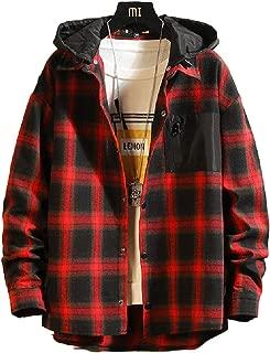 Homme à capuche matelassé fourrure doublé bûcheron travail à capuche chemise taille S-3XL