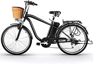 """NAKTO 26"""" City Electric Bicycle Assisted Bicycle for Men with Removable 36V 10A Large Capacity Lithium Battery Ebike and Charger"""