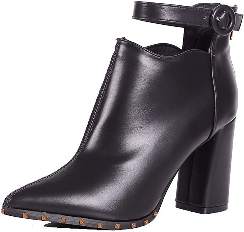 HBDLH Damenschuhe Im Winter Schn Kurz 9Cm Stiefel High Heels Dicke Schuhe Medium und Verwies Einen Baumwolle Stiefel Ma Dingxue