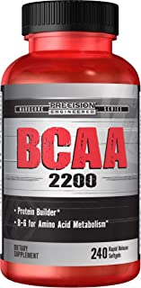 Precision Engineered BCAA 2200 240 Softgels, Branched Chain Amino Acids, Metabolism Support, Workout