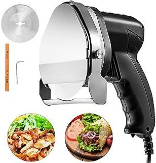 VEVOR Cuchillo Eléctrico para Kebab 80 W Cuchillo Eléctrico para Rebanador Eléctrico para Kebab Velocidad 2800 RPM Cuchillo Cortador Eléctrico para la Rueda del Kebab Espesor 0-8 mm Ajustable