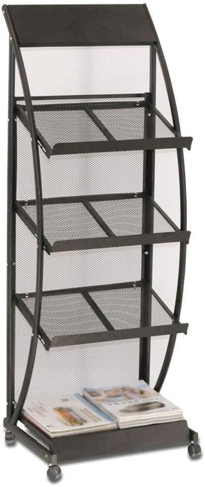 DNSJB Lowest price challenge Magazine Rack Floor-Standing Newspa Direct store Vertical Newspaper and