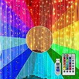 Tubo de luz RGB Exterior 10M 100LED con USB, RGB Luces de Cuerda 16 Colors con Mando a Distancia y Temporizador Luces de Hadas Para Interiores y Exteriores Para Jardín, Casa, Terraza, Navidad