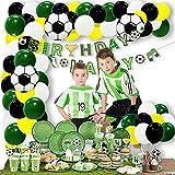 Easy Joy Decorazioni per Feste a Tema di Calcio Forniture di Compleanno Arco di Palloncini Ghirlanda Palloncino in Striscioni di Buon Compleanno per Bambini Ragazzi Fan di Calcio