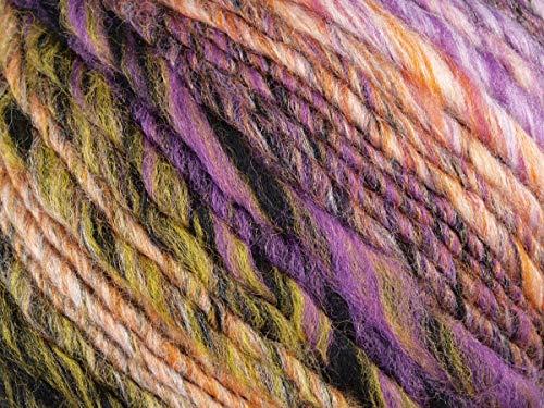 Lana Grossa - Olympia - Fb. 83 orange/lila/khaki/gelb/grau/schwarz/rohweiß 100 g