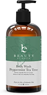 Peppermint Tea Tree Body Wash – Made with Organic Ingredients, Shower Gel for Men & Women, Tea Tree Soap for Oily or Acne ...
