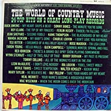 The World Of Country Music - 24 Top Hits on 2 Great Long Play Records [Vinyl LP Records}