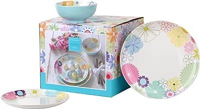 Portmeirion Crazy Daisy 12pc Dinner Set, Porcelain, Multi, 12-Piece