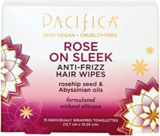 Pacifica Rose on Sleek Anti-Frizz Hair Wipes, pack of 1
