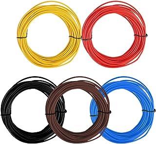 comprar comparacion TIMESETL 5 Piezas 1.5 mm²FLRY-B Hilo eléctrico 5 x 10 M Cable eléctrico vehicular