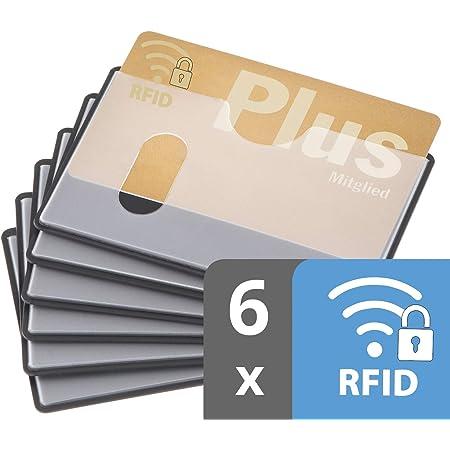 custodia carta contactless   6x nfc protezione RFID   certificato   inserimento orizzontale   trasparente   custodia bancomat schermato   proteggi carte di credito contactless