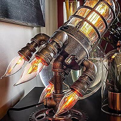 Amazon - Save 50%: Steampunk Rocket Lamp Retro Rocket Lamp Steampunk Rocket Space…