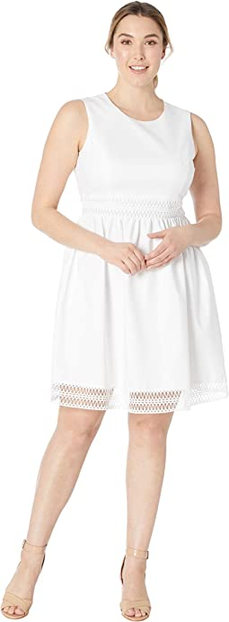 Fit and Flare Dress with Detail at Waist & Hem CD8G14LW