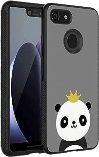 Cell Phone Case Compatible Google Pixel 3 XL (6.3 Version) Panda Wearing A Crown