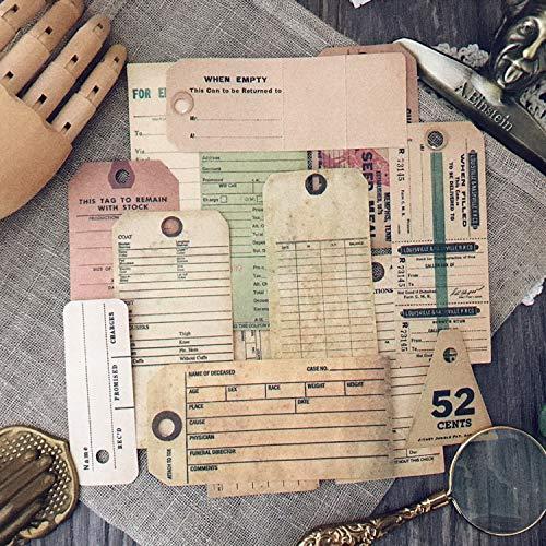 PMSMT 13 unids/Bolsa Vintage inglés Antiguo Billete Etiqueta Adhesiva DIY artesanía álbum de Recortes Diario Basura planificador Pegatinas Decorativas