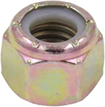 5/16-18 Grade 8 Nylock, NE Nylon Insert Hex Nut Lock Grade C Zinc Yellow - U-Turn (50 Pack)