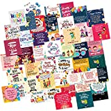 ODDCLICK Set of 48 Birthday Cards for Decoration or Other DIY(Do It Yourself) Birthday Greeting Cards 3X3 Inches Greeting Card