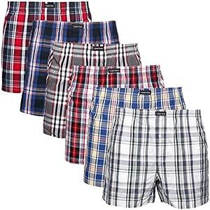 Lower East American Style, Bóxer, Hombre (Pack de 6), Multicolor (Kariert), XXX-Large
