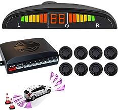 $45 » Black 8 Sensors Car Front Rear Reverse Parking Rader Kit LED Buzzer Alarm Black Front and Rear 8 Sensors Car Reverse Parki...