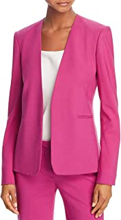 Theory Womens Isita Virgin Wool Suit Separate Open-Front Blazer