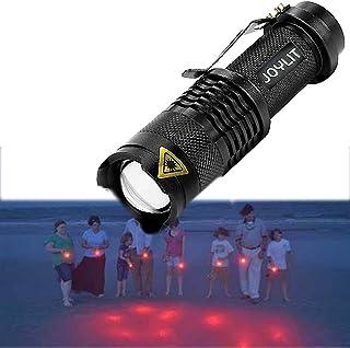 JOYLIT Red Light Flashlight, AA Battery Powered LED Torch Flashlight Red Light with 3 Modes, Waterproof Small Flashlights ...