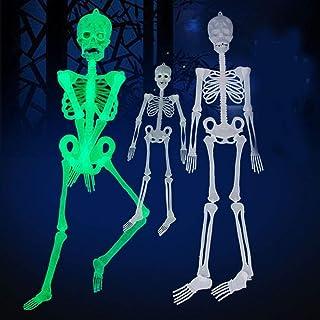 Delaman Modelo de Marco Esqueleto Falso Calavera Esqueleto Lluminoso de Halloween, Decoración Colgante Esqueleto Humano, Ornamentos del Festival (tamaño : 150cm)