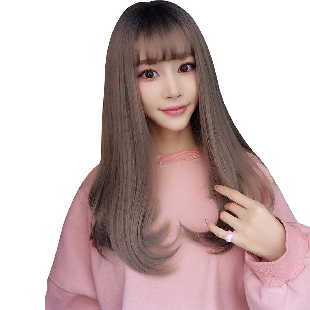 科学賄賂回転SRY-Wigファッション 20 ``長いウェーブのかかった色の髪のファッションかつら白人女性の自然な女性の髪の部分のための耐熱性合成かつら