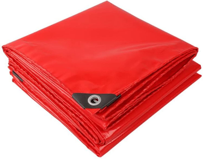 LQQGXL Red Celebration Tarpaulin Festival shed Cloth Rainproof Sun Predection Tarpaulin high Temperature AntiAging Waterproof Tarpaulin