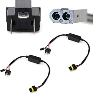 iJDMTOY (2) Easy Relay Harness Compatible With H4 9003 Hi/Lo Bi-Xenon Headlight Lighting Kit Xenon Bulbs Wiring Controllers