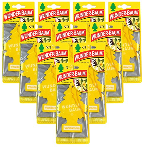Wunderbaum 10x Vanillaroma Orginal Lufterfrischer Duftbaum Fahrzeugduft 1 STK